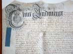 click to view detailed description of A George I period Trust Indenture on vellum dated January 22, 1714